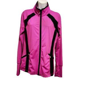 OXYGEN Mesh Paneled Active Wear Zip Up Jacket
